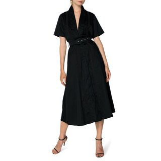 S/W/F Freedom Plunge Lace Trim Midi Dress
