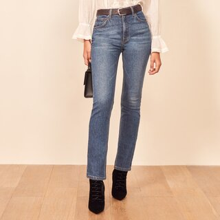 Reformation Liza High Rise Straight Jeans
