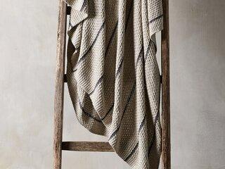 Arhaus Cotton Knit Baisley Stripe Throw