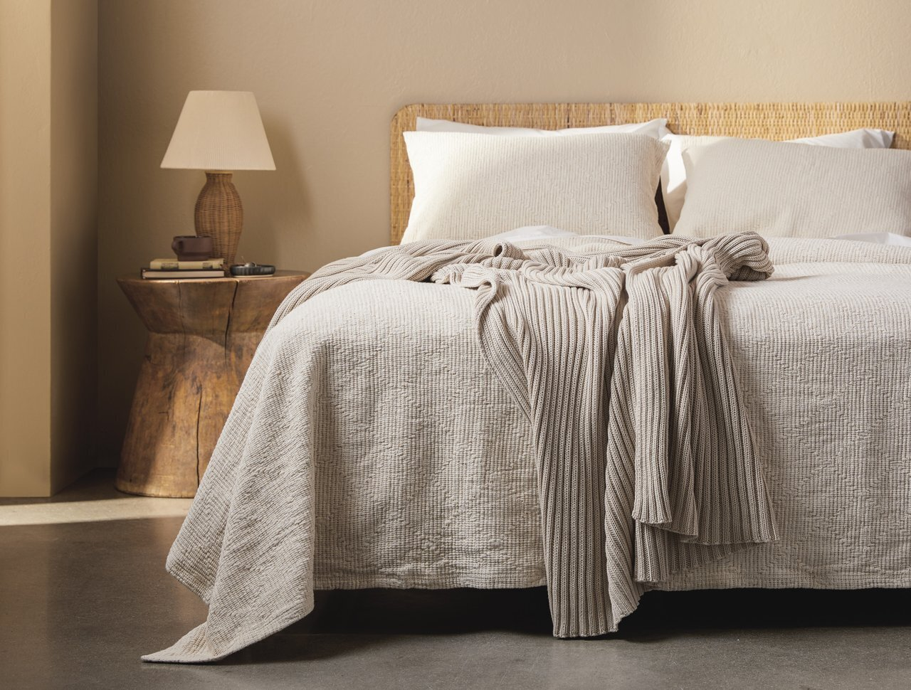 Bedroom, Night Stands, Table Lighting, and Bed  Photo 1 of 1 in 21 Cuddly Throws We Love for Less Than $100