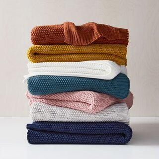 West Elm Cotton Knit Throws