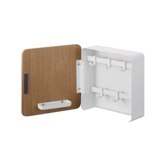 Yamazaki Home Square Magnet Key Cabinet | Wood Accent