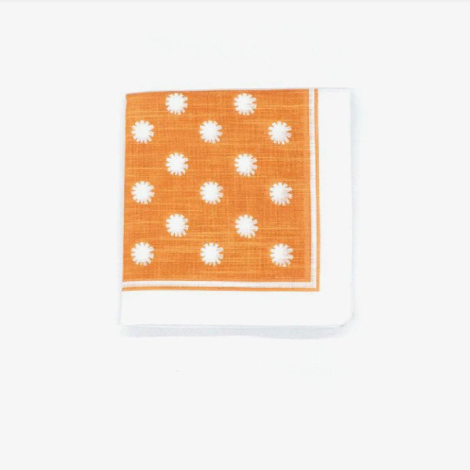 Topdrawer Wafu Japanese Handkerchief - Dandelion Orange