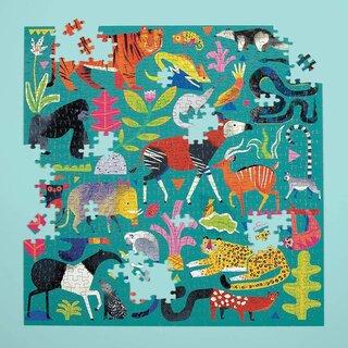 Mudpuppy Rainforest Animals 500 Piece Family Puzzle