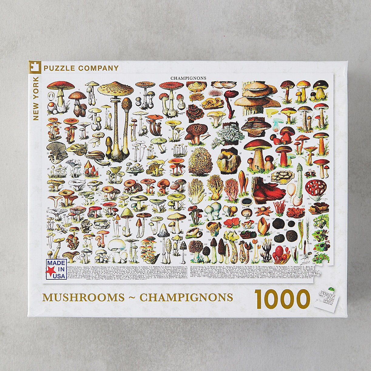 New York Puzzle Company Mushroom Field Guide Puzzle