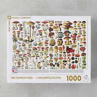 New York Puzzle Company Mushroom Field Guide Puzzle