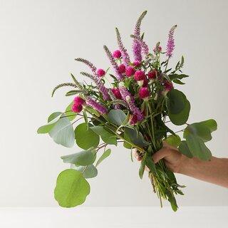 Terrain Pink Veronica + Eucalyptus Bouquet