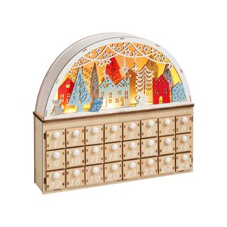 World Market Wood Nordic Winter LED Light Up Countdown Calendar