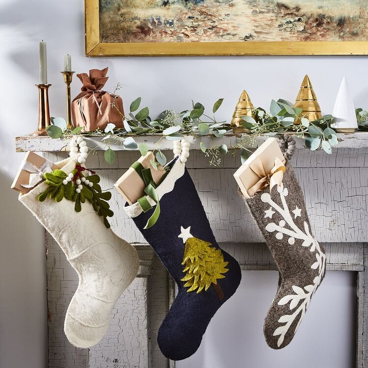 Arcadia Home Handmade Holiday Felt Stockings