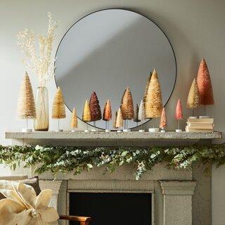 Cody Foster Modern Holiday Bottlebrush Trees (Set of 6)