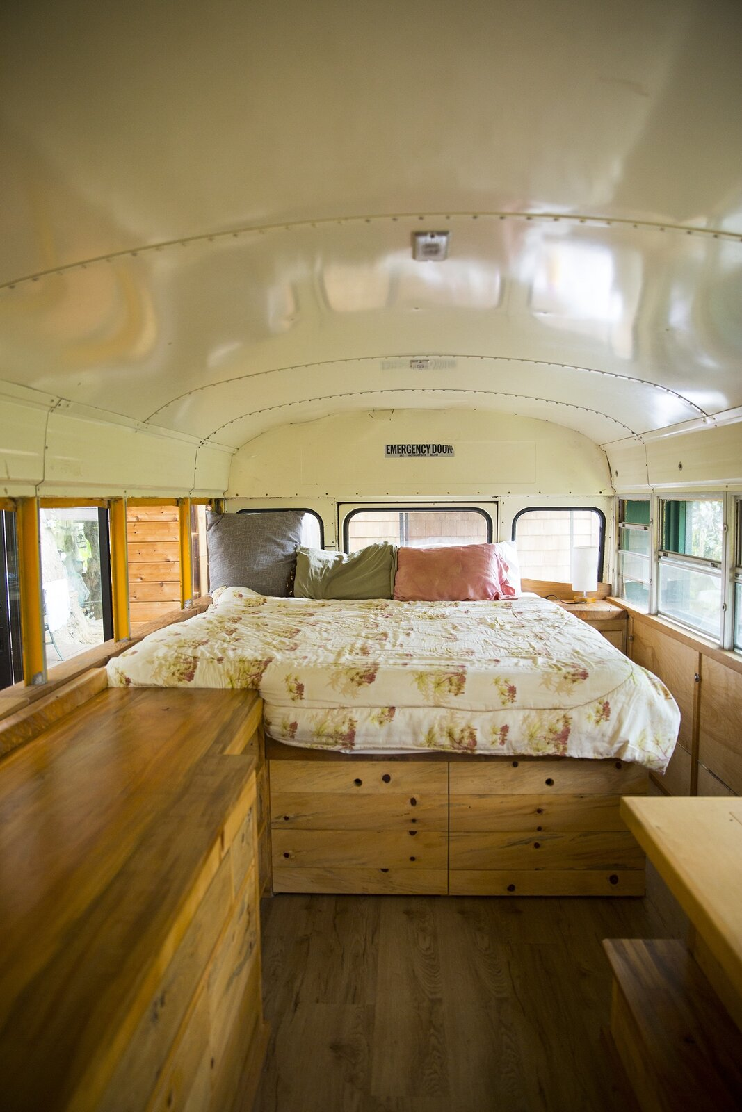 Photo 5 of 10 in These Legendary Surfers' Converted School Bus Connects to a Three-Story Tree House on Hawaii