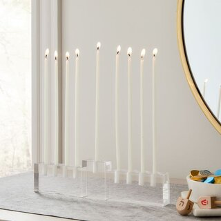 West Elm Glass Menorah