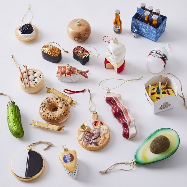 Cody Foster Vintage-Inspired Glass Food Ornaments