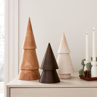 West Elm Stacked Wood Trees