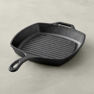 Lodge Seasoned Cast Iron Square Grill Pan