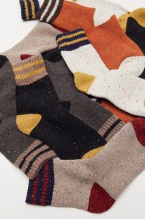 Urban Outfitters Multi-Stripe Cozy Crew Sock