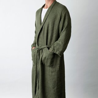Cultiver Linen Waffle Robe