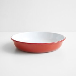 Falcon Red Enamelware Serve Bowl 11""