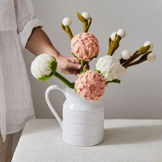 Global Goods Partners Handmade Felt Flower & Eucalyptus Bouquets