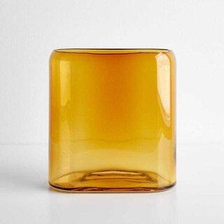 Layers Amber Medium Vase