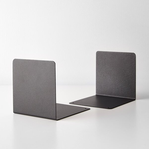 Black Steel Bookend Set of 2