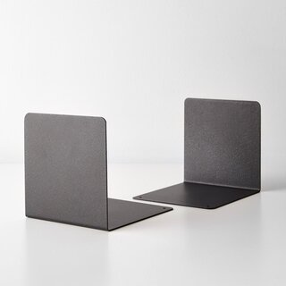 Black Steel Bookend Set of 2