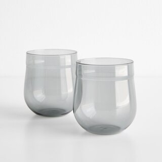 Angle Bell Smoke Double Old Fashioned Glasses Set of Two
