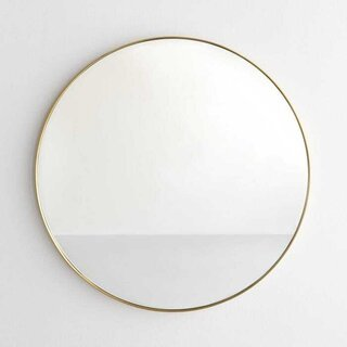 Brass Round Wall Mirror 30""