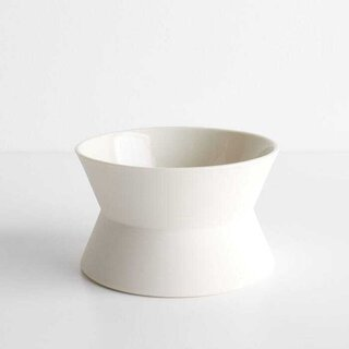 Zig Zag White Low Bowl