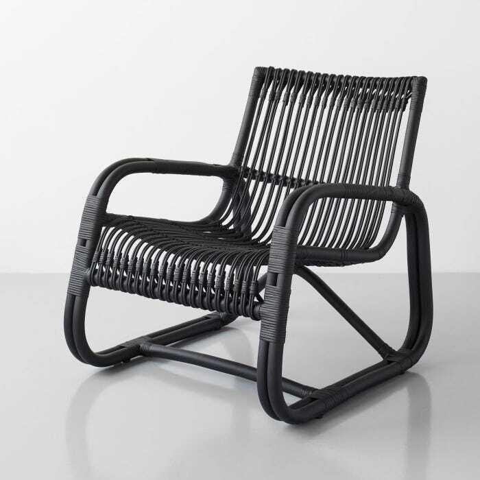 Curve Black Lounge Chair