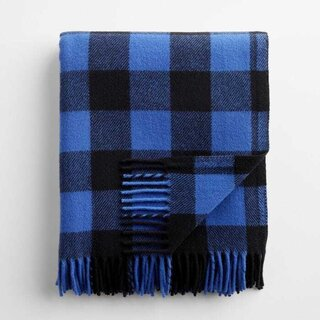 Buffalo Check Blue and White Throw Blanket