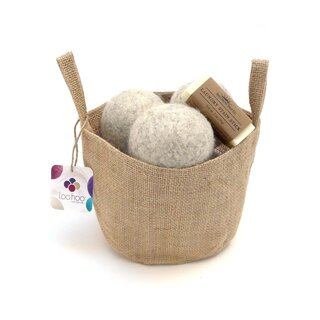 LooHoo Dryer Balls - Jute Tote Laundry Set