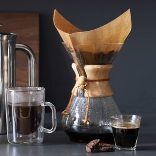 Chemex Pour-Over Glass Coffee Maker With Wood Collar