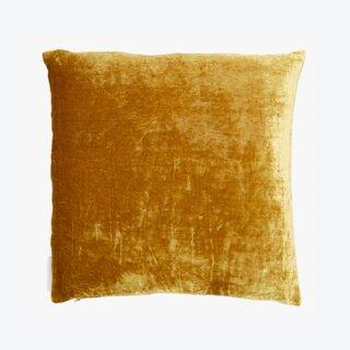 ABC Carpet & Home Velvet Pillow New Gold