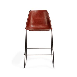 ABC Carpet & Home Giron Leather Counter Stool Brown