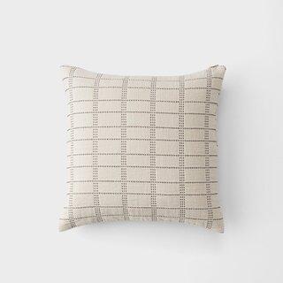 Schoolhouse Ivory Grid Stitch - Throw Pillow