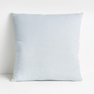 """Crate and Barrel x Parachute Chambray 20"""" Pillow With Down-Alternative Insert"""
