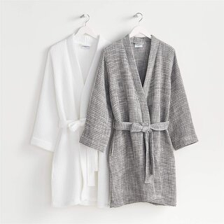 Crate and Barrel x Parachute Waffle Bath Robe
