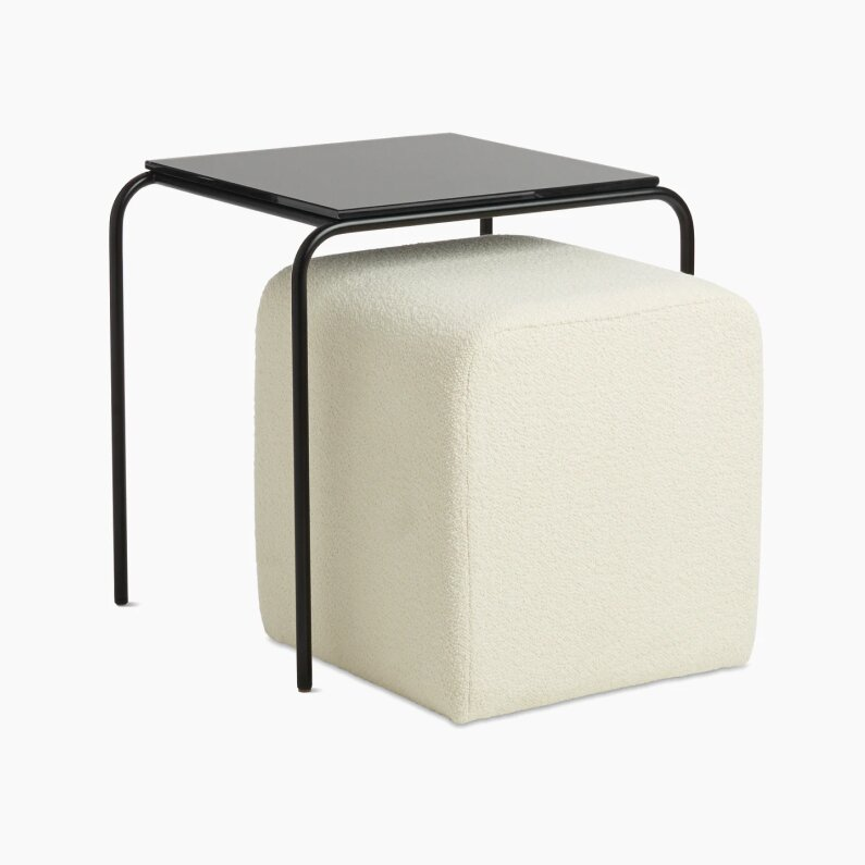 Design Within Reach Fellow Nesting Table With Pouf