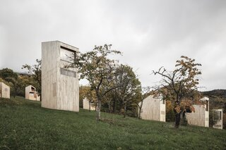 A Scandi-Inspired Retreat in the French Countryside Comprises a Series of Monolithic Cabins