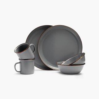 Barebones Living Enamelware Dining Collection - Slate Gray