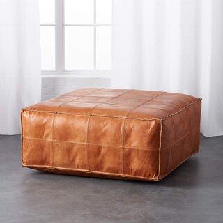 CB2 Leather Ottoman-Pouf