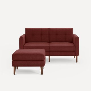 Burrow Arch Nomad Loveseat With Ottoman