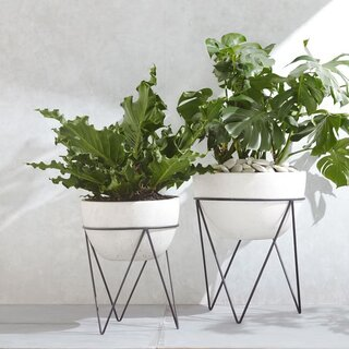 West Elm Iris Indoor/Outdoor Planter On Stand