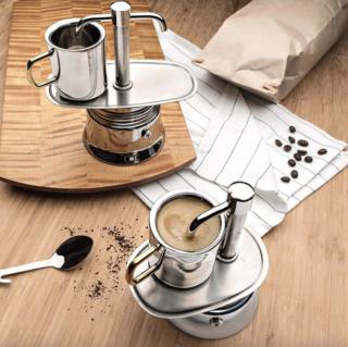 Garrett Wade Stainless Steel Stovetop Espresso Maker