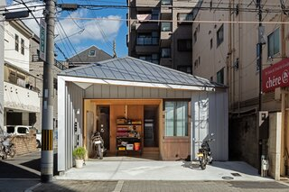 A Compact, Steel-Clad Home Slots Into a Narrow Lot in Osaka, Japan