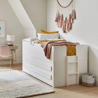 West Elm Gemini Captain's Bed - White
