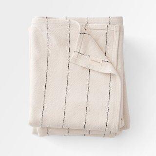 Schoolhouse Cotton Pinstripe Throw