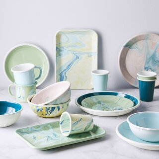 Bornn Multi-Color Enamel Dinnerware
