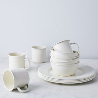 Golden Rabbit Enamel Simple Dinnerware (Set of 4)